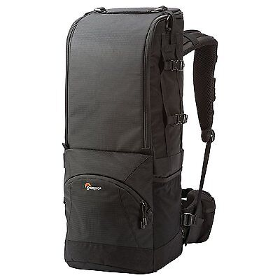 Lowepro Trekker 600 III AW Backpack DSLR Camera with Attached Telephoto Lens