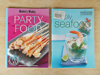 2 x Australian Women's Weekly S/F Cookbooks~Party Food & Simply Seafood