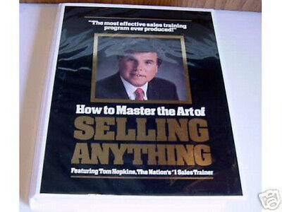TOM HOPKINS - MASTER THE ART OF SELLING  ANYTHING  MSRP $195 - 12 Tapes + 12 CDs