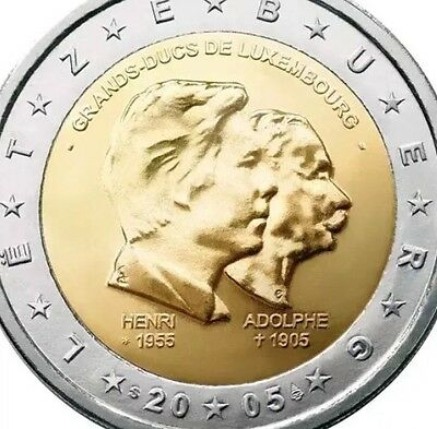 Luxembourg 2 Euro Commemorative Coin 2005 Birthday New BUNC from Roll