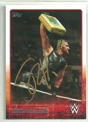 SETH ROLLINS AUTHENTIC AUTOGRAPH WWE 2015 TOPPS CARD w/COA