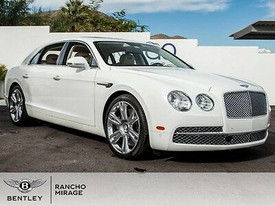 2014 Bentley Flying Spur  2014 Bentley Flying Spur W12 Glacier White Linen Rear Cam Adaptive Cruise