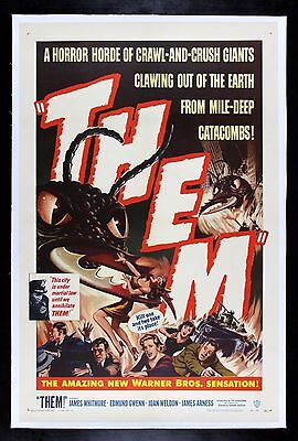 THEM ! CineMasterpieces 1954 GIANT ANTS ANT MONSTER HORROR ORIGINAL MOVIE POSTER