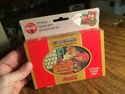 Coca-Cola Two Decks of Sealed Playing Cards in Collectible Tin