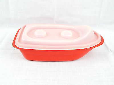 Vintage Tupperware TupperCanoe TupperToy Toy Bath Boat Only 1732-4 Red and Sheer