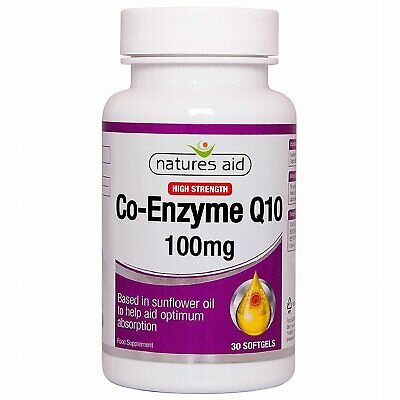 Natures Aid CO-Q-10 (Co Enzyme Q10) 100mg - 30 Softgels