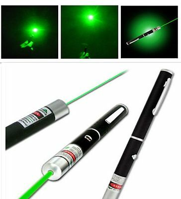 Powerful Green Laser Pointer Pen Visible Beam Light 5mW Lazer High Power 532n RF