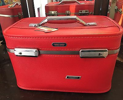 Vintage Red American Tourister TRAIN TRAVEL CASE