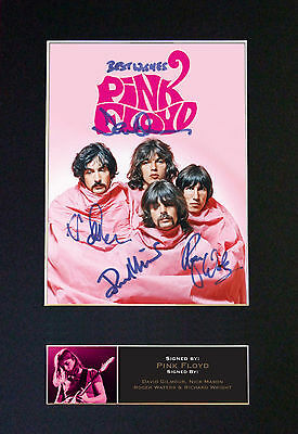 PINK FLOYD - MEMORABILIA - Collectors Signed Photo + FREE WORLDWIDE SHIPPING