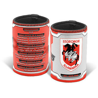 St George Illawarra Dragons NRL HISTORY Can Bottle Cooler Holder Gift NRL003D