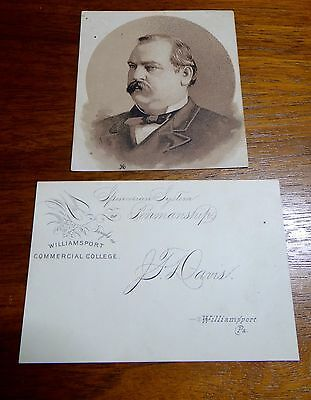 J F Davis Photo Spencerian System of Penmanship Williamsport Commercial College