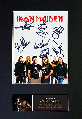 IRON MAIDEN - MEMORABILIA - Collectors Signed Photo + FREE WORLDWIDE SHIPPING