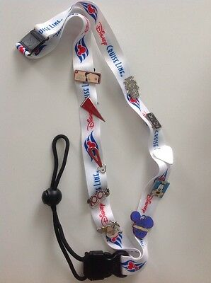 Disney Cruise line NEW Lanyard  with 10 Trading pins on it DCL Captain Mickey