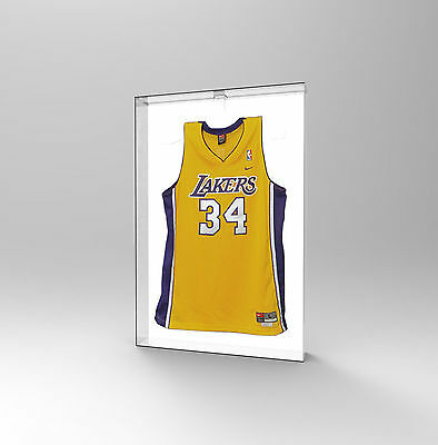 Sports Shirt Autographed Jumper Memorabilia Display Case Acrylic Perspex WHITE