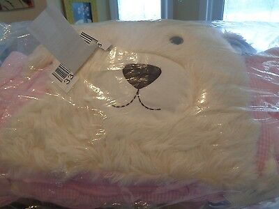 "Pottery Barn Kids Shaggy Head sleeping bag puppy dog mono ""Lilah"" New"