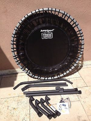 JumpSport 350i Fitness Trampoline Includes exercise handlebar and DVD