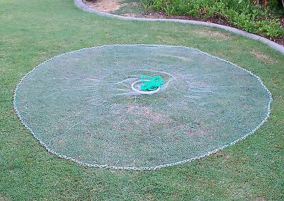 Quick Throw Cast Net  8 FT Spread, 3/4 inch Mono, *Chain BottoM*, Best Quality