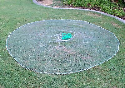 Quick Throw Cast Net  10 FT Spread, 3/4 inch Mono, *Chain BottoM*, Best Quality