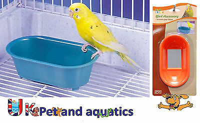 Bird Toy, For Budgies & Small Birds, Bird Bath With Mirror