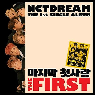 [NCT DREAM] 1st Single Album [The First] CD+Booklet+Photocard+Poster NEW Sealed