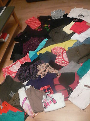 Job Lot Of 36 Items Of Womens Clothing - Size 8 - 10 - Top / Skirt Jumper Bundle