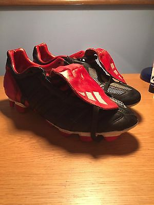 Adidas Predator Mania UK size 10 RARE BLACK STRIPES (USED)
