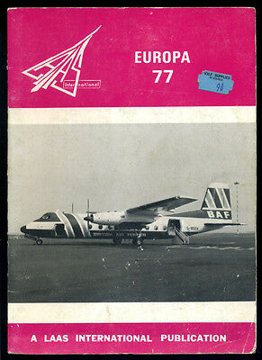 LAAS Europa 1977 - civil aircraft - A guide to airlines operating in Europe