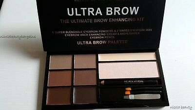 makeup revolution ultra brow palette HD BROWS PALETTE BROW KIT WITH TWEEZERS