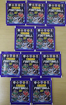 Panini Football 2017 ~ Sticker Collection 10 x Sealed Packs = 50 Stickers