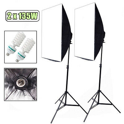 Photography Photo Softbox Studio Continuous Video Lighting Light Soft Box Kit