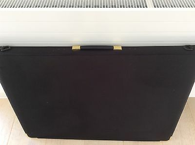 A1 Presentation / Portfolio Black Case with Ring Binder and Plastic Wallets