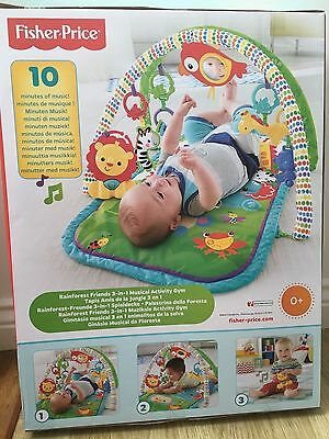 Fisher-price 3-in-1 Musical Activity Gym Mat rainforest friends NEW