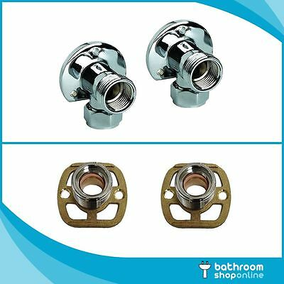 Thermostatic Bar Valve Mixer Shower Wall Easy Plumb Fixing Kit Exposed Shower