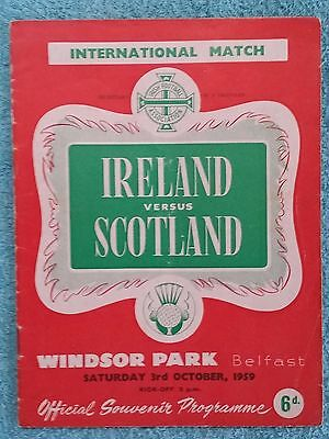 1959 - NORTHERN IRELAND v SCOTLAND PROGRAMME - INTERNATIONAL