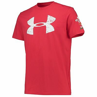 Adults Small Wales Rugby Graphic T-Shirt 2 15/16 Red H74