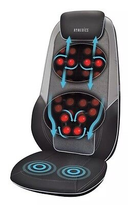 HoMedics Shiatsu Max 2.0 Back and Shoulder Massager with Heat Massage Chair NEW