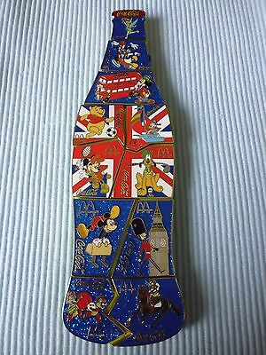 1  Coca Cola  Disney London Puzzle Pin Bottle Limited Edition 50