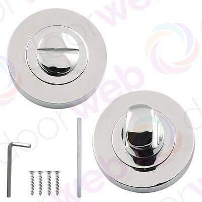 BATHROOM THUMB TURN and Release Set Linea Aztec Toilet Door Lock Privacy CHROME
