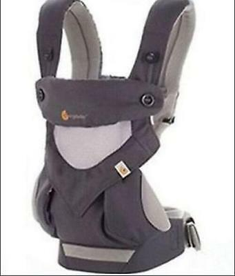 Ergo 360 Four Position breathable carrier Dusty gray New w box .