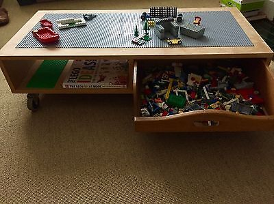 Mobile Lego Playtable With Storage, Upcycled Heals Coffee Table