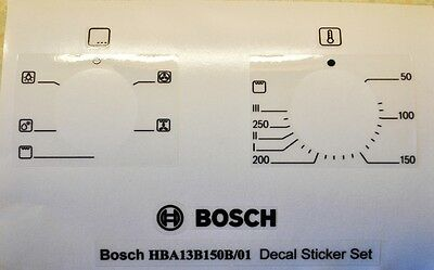 Bosch HBA13B150B decal sticker set for worn facia, may suit other models.