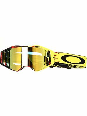 Oakley MX Brille Airbrake High Voltage Rot-gelb-24K Iridium