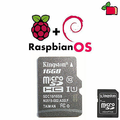 Raspbian Jessie Preinstalled 16GB CLASS10 SD Card Preloaded for Raspberry Pi