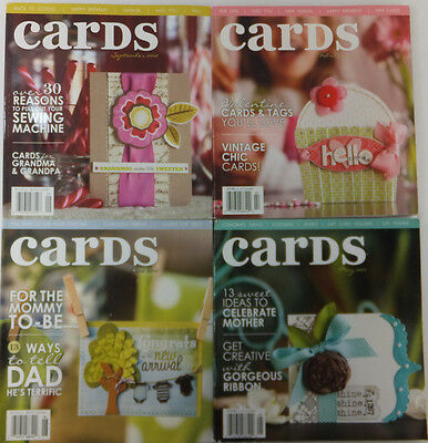 Cards Idea Magazine Lot of 4 Back Issues