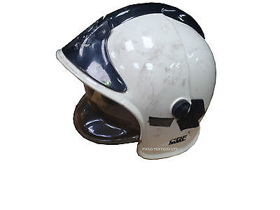 Cgf Gallet - White Fire Fighters Helmet - Used - Size Medium (53-63)