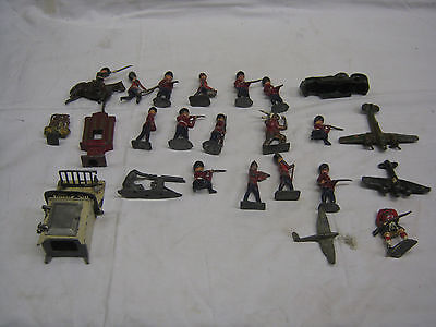 job lot of very early lead/diecast toys,