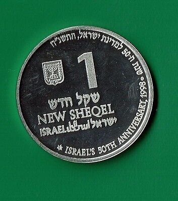 Israel 1998 50th Anniversry Silver Coin