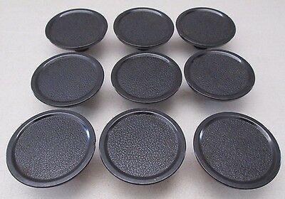Vintage (9) Drawer Cabinet Cupboard Pulls Round Black from Great Lakes Ship