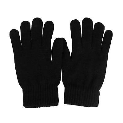 Men's Everyday Winter Thick Knit Thinsulate 3M Warm Snow Ski Gloves Black M/L