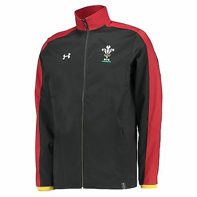 Adults Large Wales Rugby Travel Jacket 15/16 Black H10